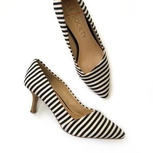 Sole Society striped Angelica pointed toe pumps